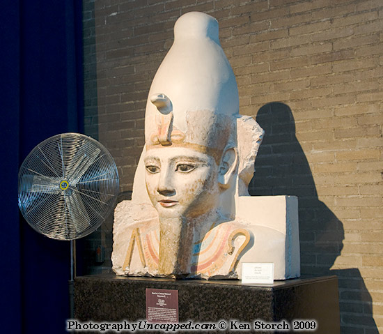 Ramses ll entombed with his royal fan for the afterlife