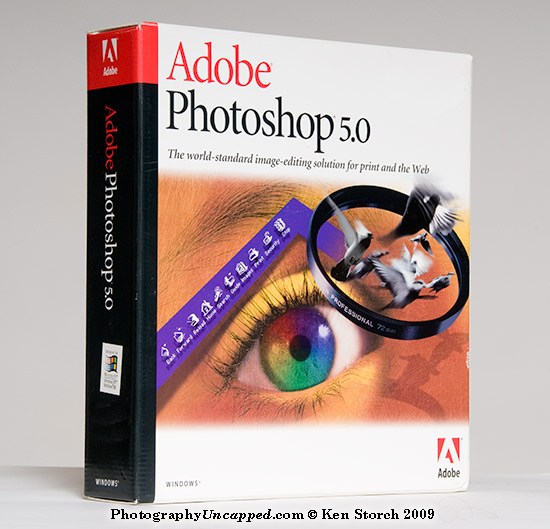 This is actually Adobe Photoshop Version 5.0 (not CS5)