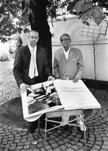 Helmut Newton with Benedikt Taschen and SUMO