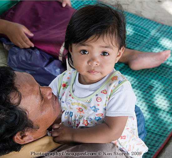 Crying Girl with her father - Kata Beach Phuket Thailand