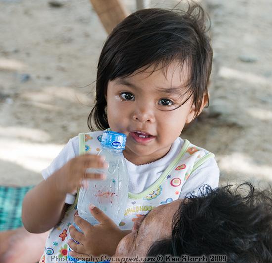 Girl with Father - Kata Beach Phuket Thailand