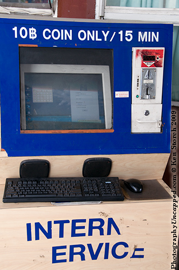 Internet 'workstation' in Chiangmai, Thailand