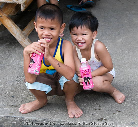 Laughing Boys in New Sukhothai Thailand