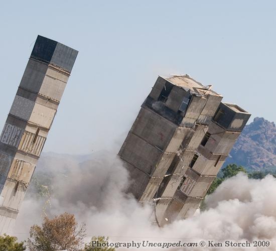 Three Towers Imploding