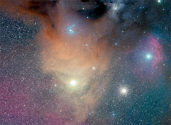 ESO Gigagalaxy Photograph of Antares by Stephane Guisard - detail