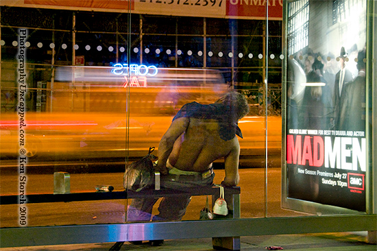 Mad Men on location on the street