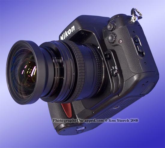 Nikon F100 with Circular Wide-angle Lens Hack