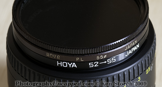 52mm > 55mm Step-Up Filter Ring Adapter - detail