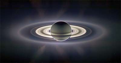 Hi-Res Back-lit Photo of Saturn from Cassini