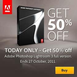 Save 50% on Lightroom 3