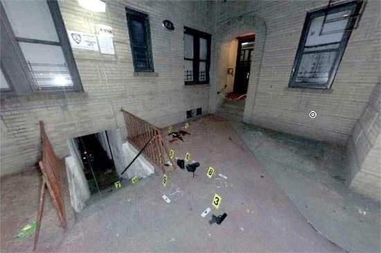 NYC Crime Scene Panoramic Photo - Source: New York Police Department