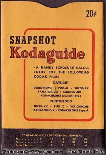 Kodak Snapshot Kodaguide - front cover