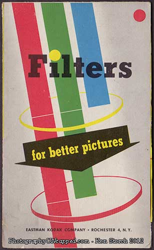 Kodak Filters pamphlet - For Better Pictures - cover