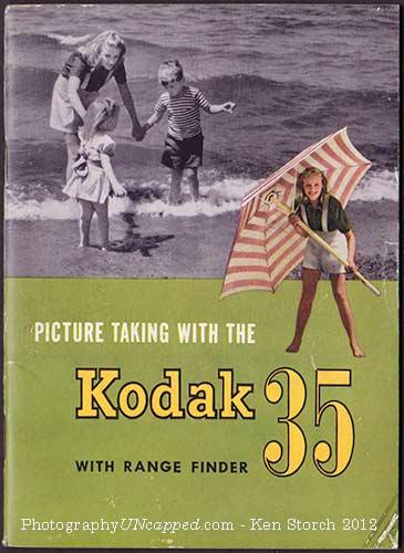 Kodak 35 Range Finder Instruction pamphlet