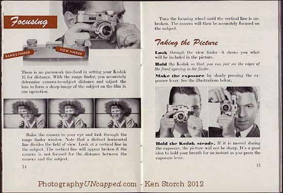 Kodak 35 Range Finder - Tips for Focusing