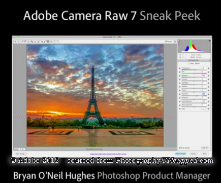Official Adobe Sneak Peek #1 – Photoshop CS6 New Features – Adobe Camera Raw 7 New Features – Video