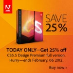 Adobe 25% Off Sale One Day Only