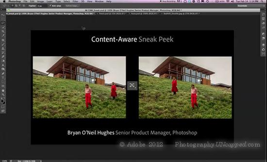 Adobe Sneak Peek - Content Aware - Photoshop CS6 New Feature?