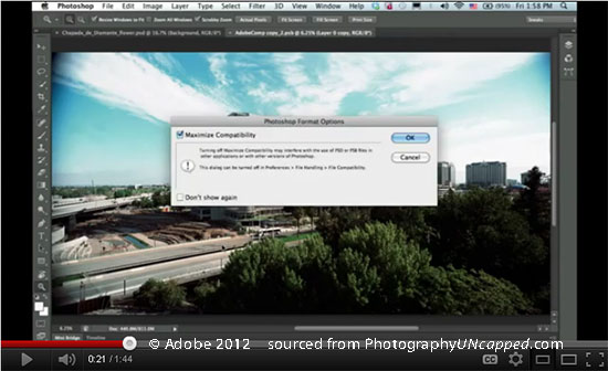 Photoshop CS6 Sneak Peek Video - Save in Background + Liquify Filter Performance
