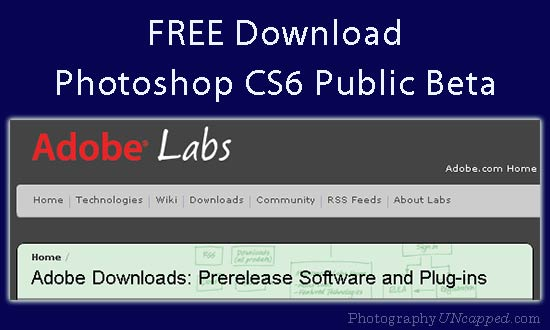 Free Download Adobe Photoshop CS6 Beta