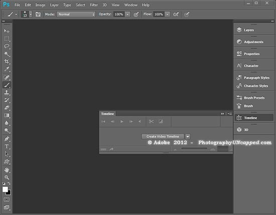 Photoshop CS6 New Video Timeline Feature - PhotographyUncapped.com