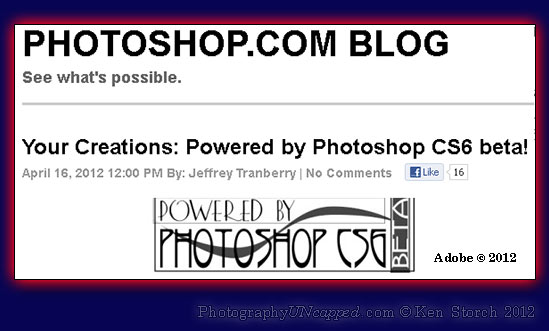 Adobe CS6 Photoshop Blog Promotion
