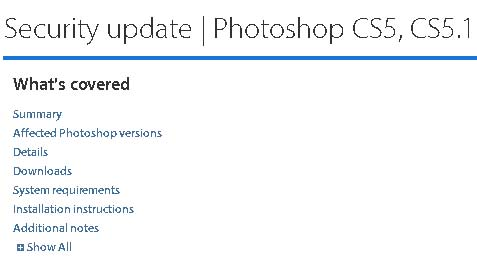 Security Update for Photoshop CS5, CS5.1