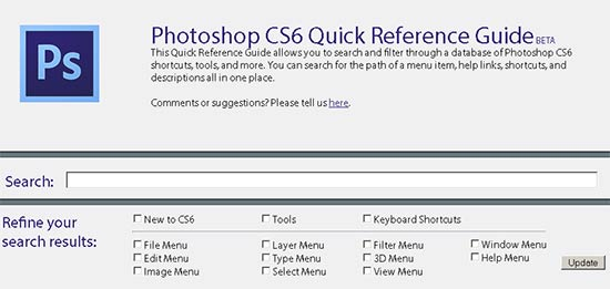 The Adobe Photoshop CS6 Quick Reference Guide