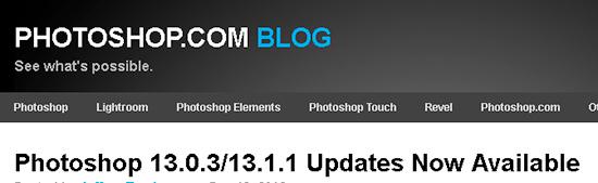 Photoshop 13.0.3 13.1.1 Updates