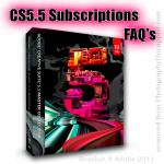 Adobe CS5.5 Creative Suite 5.5 Subscription FAQ's