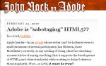 "Is Adobe ""Sabotaging"" HTML5??"