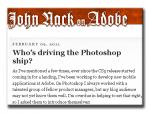 John Nack Adobe Blog on the Future of Photoshop Team - CS6 or CS5.5