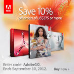 Save 10% on Adobe Orders over $375